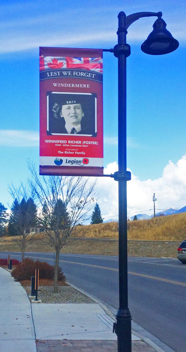 Honour Our Veterans Banner Program -- Elinor Florence