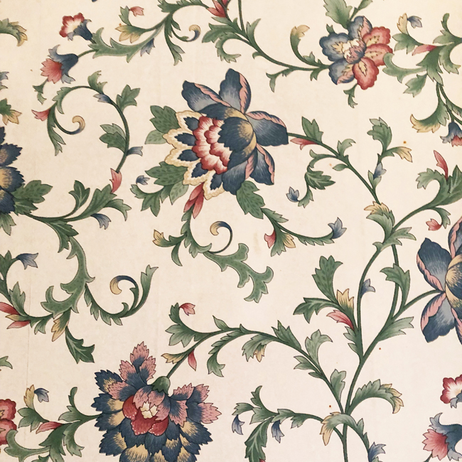 Floral wallpaper from old Alberta farmhouse