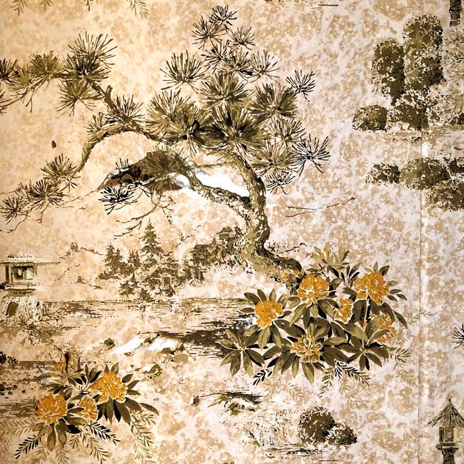 Vintage Oriental wallpaper, from old Alberta farmhouse