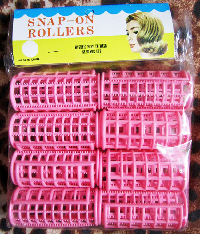 vintage plastic curlers for curly hair