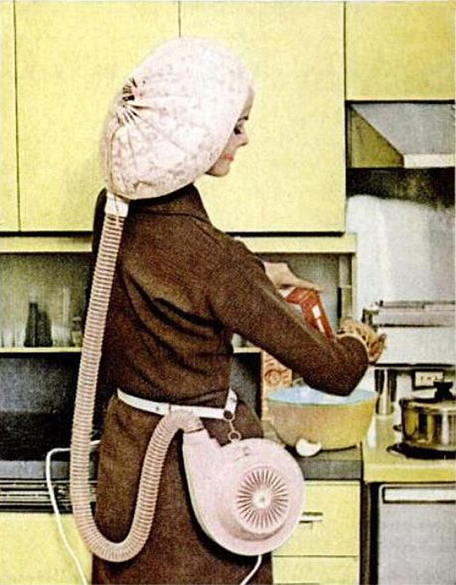 vintage portable bonnet hair dryer for curly hair