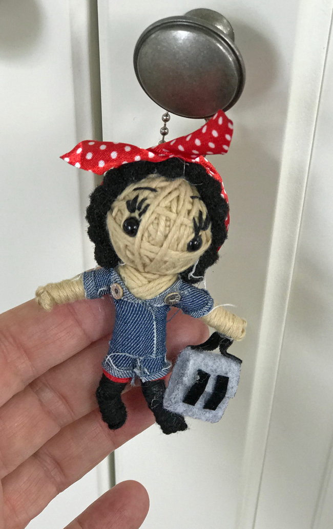 home office Rosie the Riveter keychain, Elinor Florence