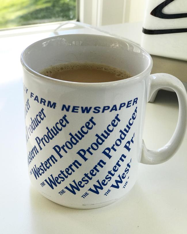 home office Western Producer coffee mug, Elinor Florence