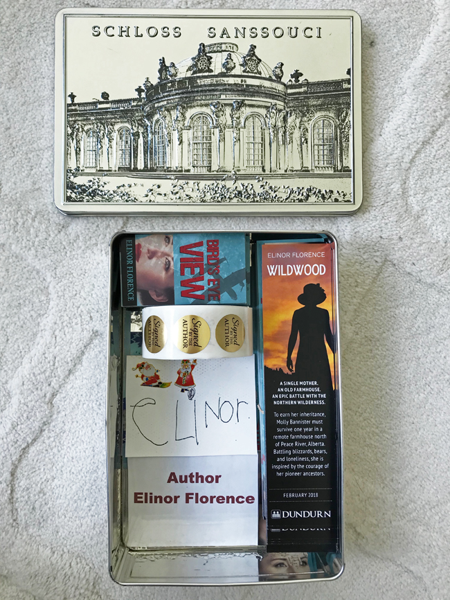 home office, silver box containing bookmarks, Elinor Florence