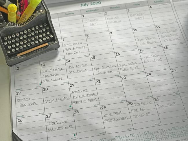 home office desk calendar, Elinor Florence