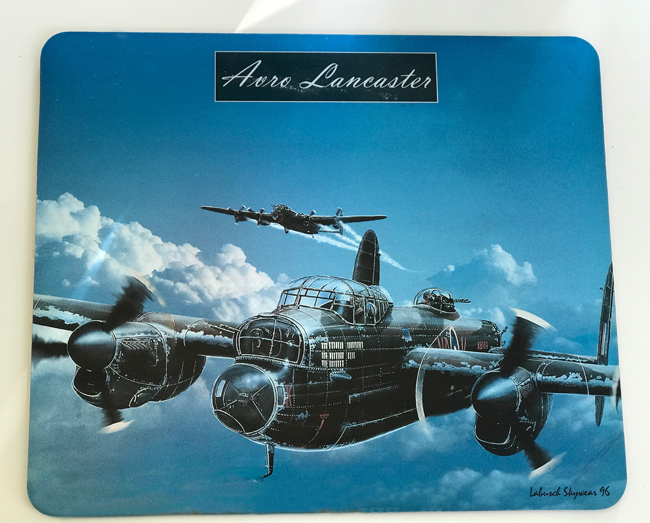 home office Avro Lancaster mouse pad, Elinor Florence