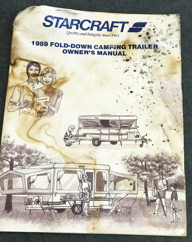 vintage camper renovation, 1989 Starcraft manual