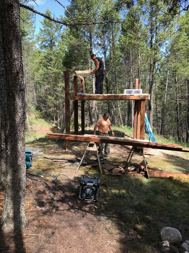TREEHOUSE carpenters at work