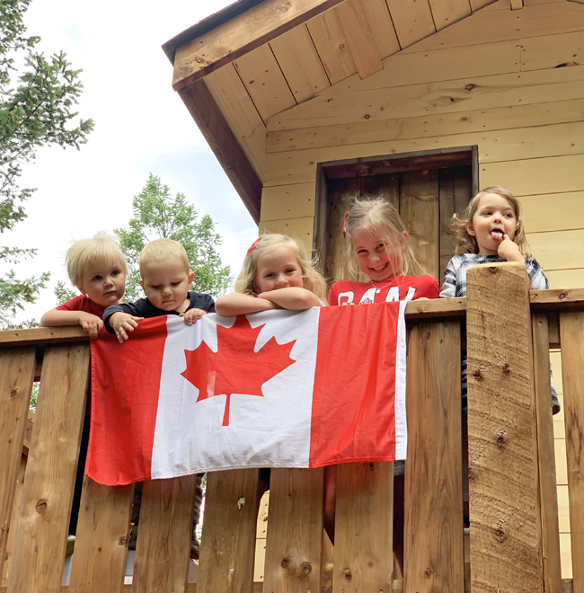 TREEHOUSE, kids on Canada Day
