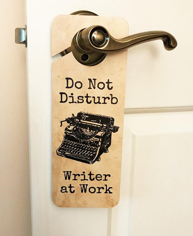 Elinor Florence, Writer at Work door hanger