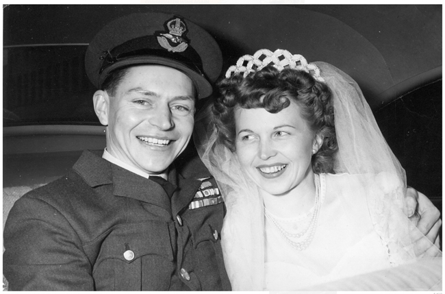 My Favourite Veterans book cover, Stocky and Toni Edwards wedding photo