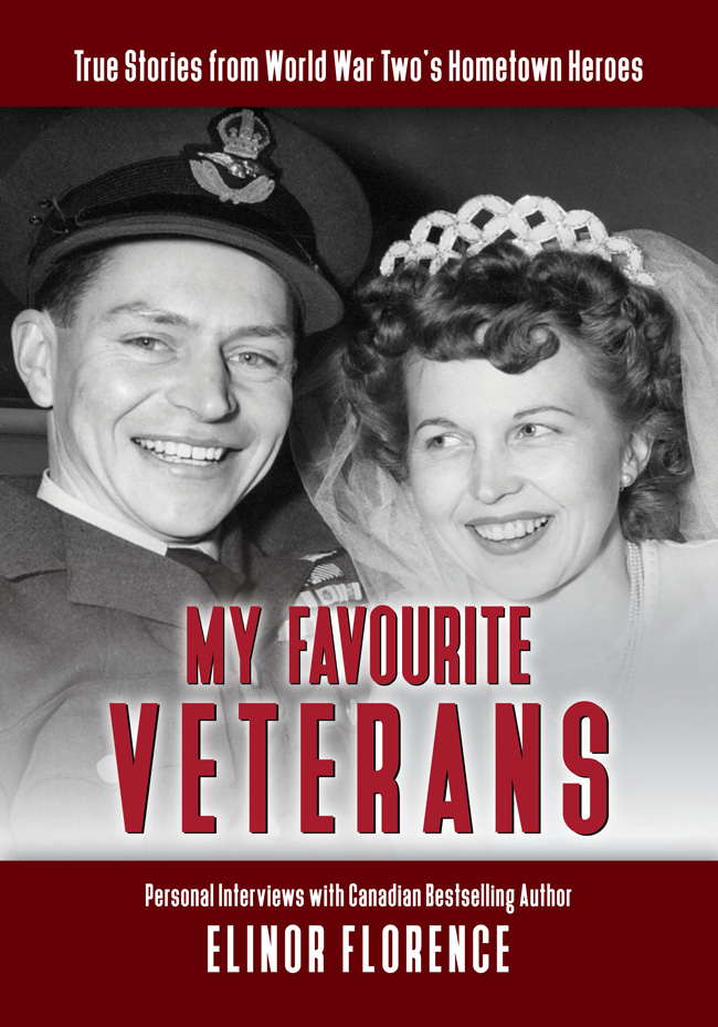 My Favourite Veterans, book cover veterans Stocky and Toni Edwards wedding photo