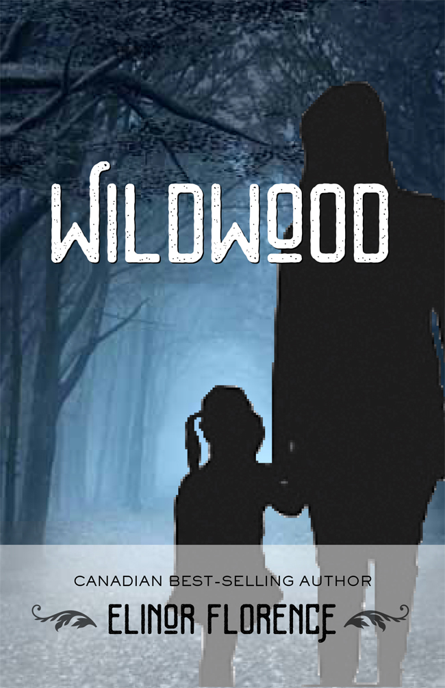 Wildwood book cover design, blue proof