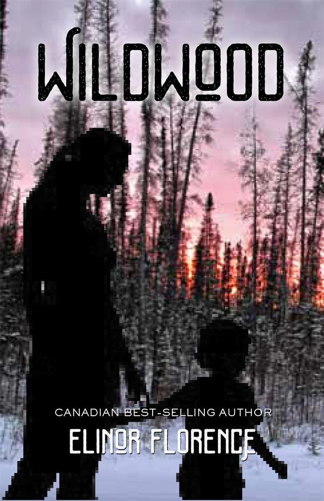 Wildwood book cover design, pink sunset