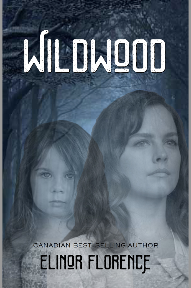 Wildwood book cover design, two faces