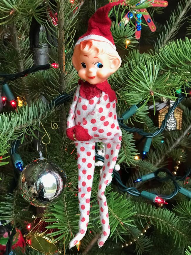 Traditional tree ornament elf