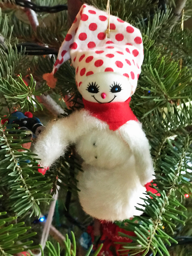 Traditional tree ornament snowman