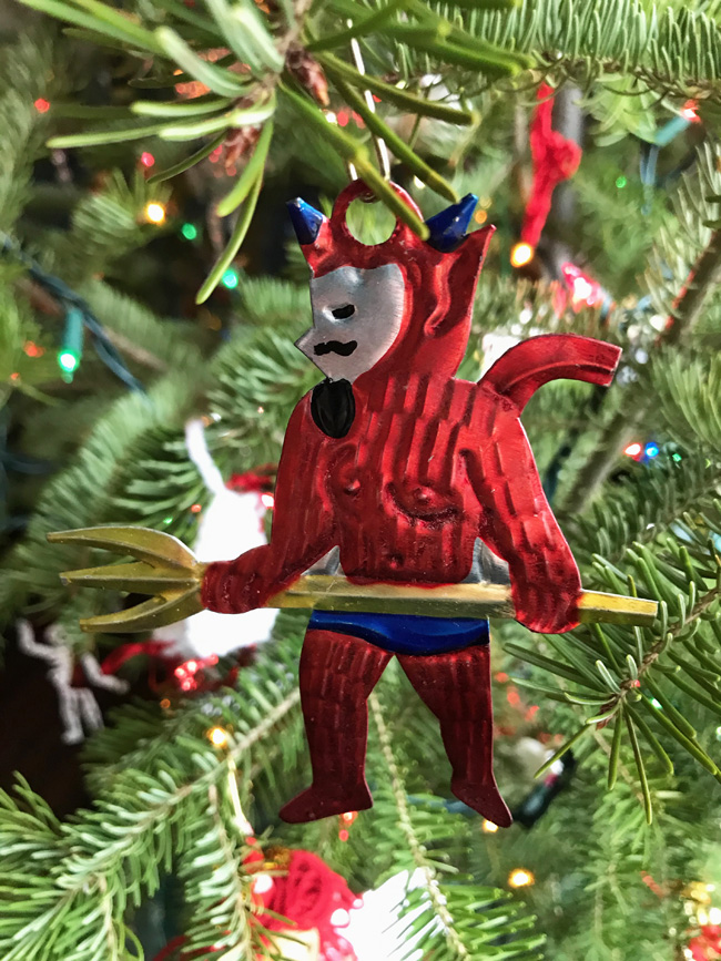 traditional tree ornament, Mexican devil