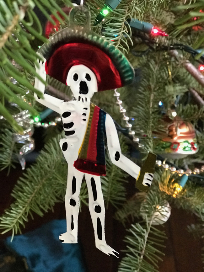 traditional tree ornament, Mexican skeleton