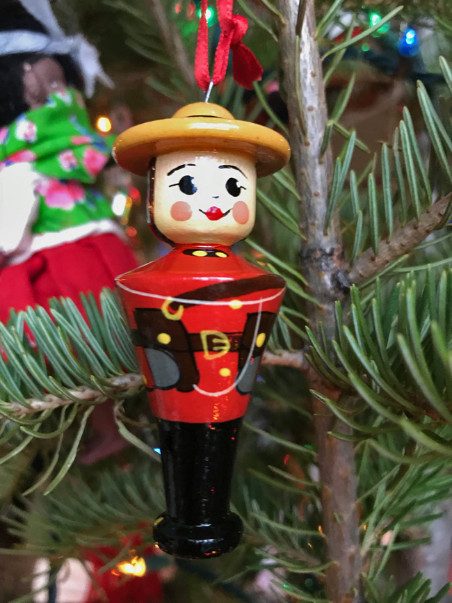 traditional tree ornament Mountie