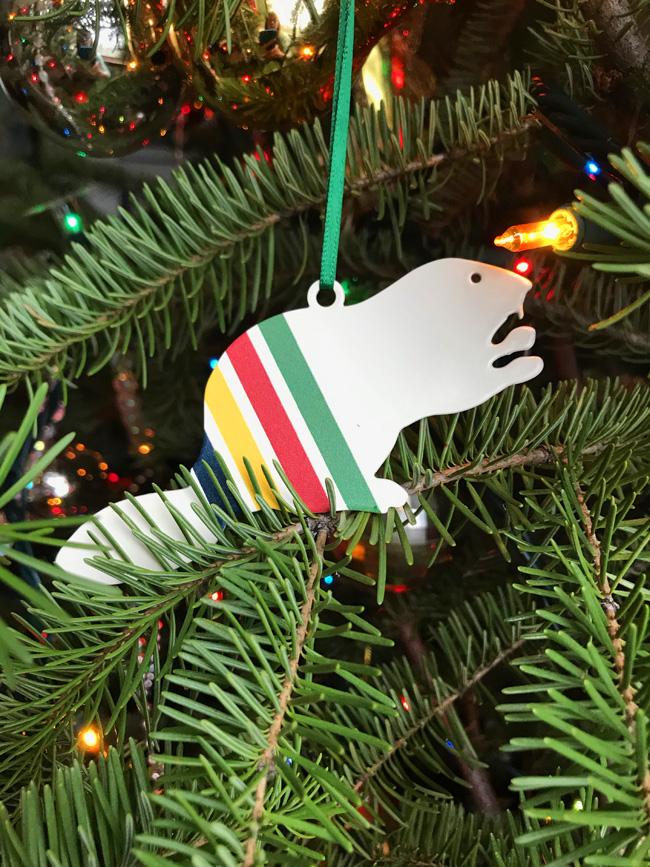 traditional tree ornament beaver