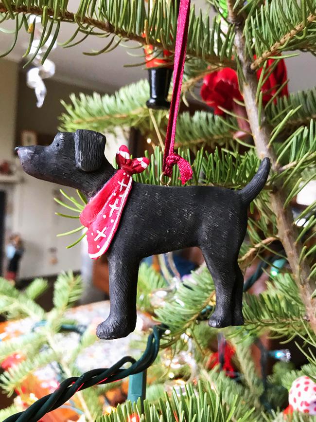 traditional tree ornament dog