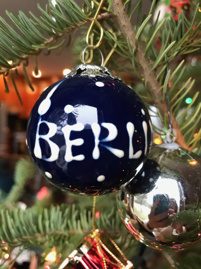 traditional tree ornament from Berlin