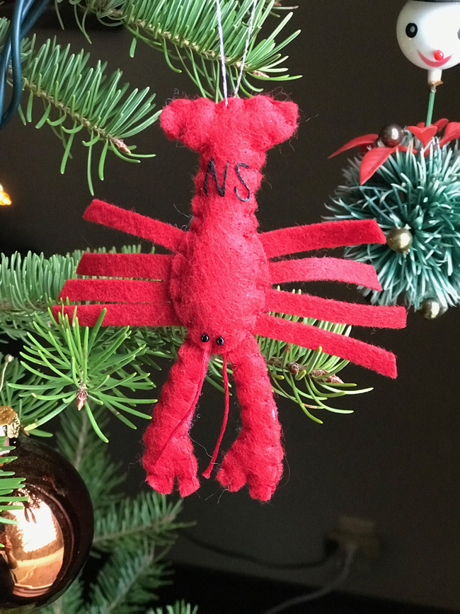traditional tree ornament lobster
