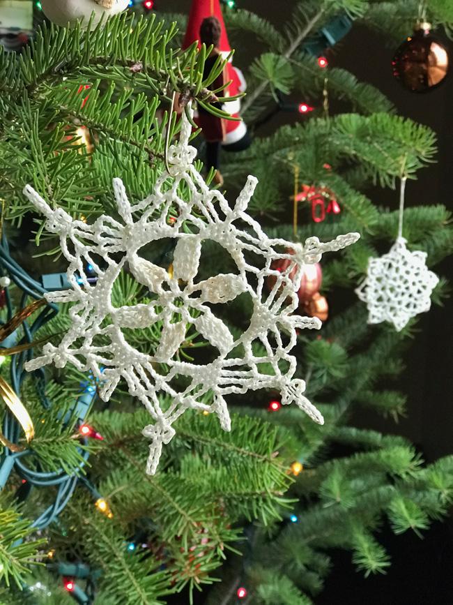 traditional tree ornament snowflake