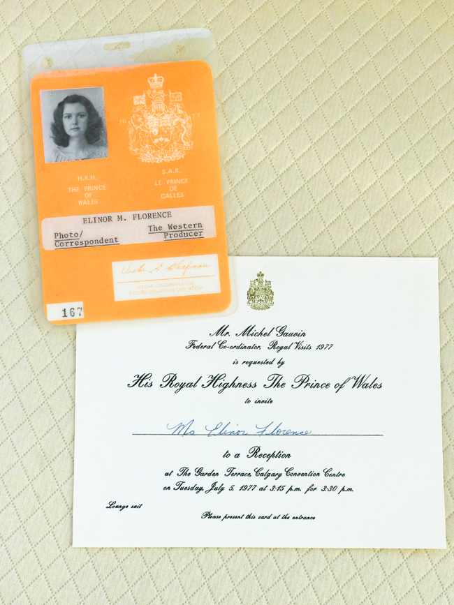 Press credentials for royal visit to Canada, 1977
