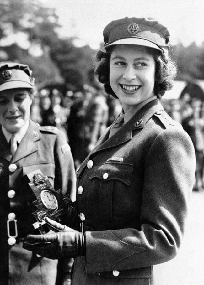 Princess Elizabeth in wartime uniform