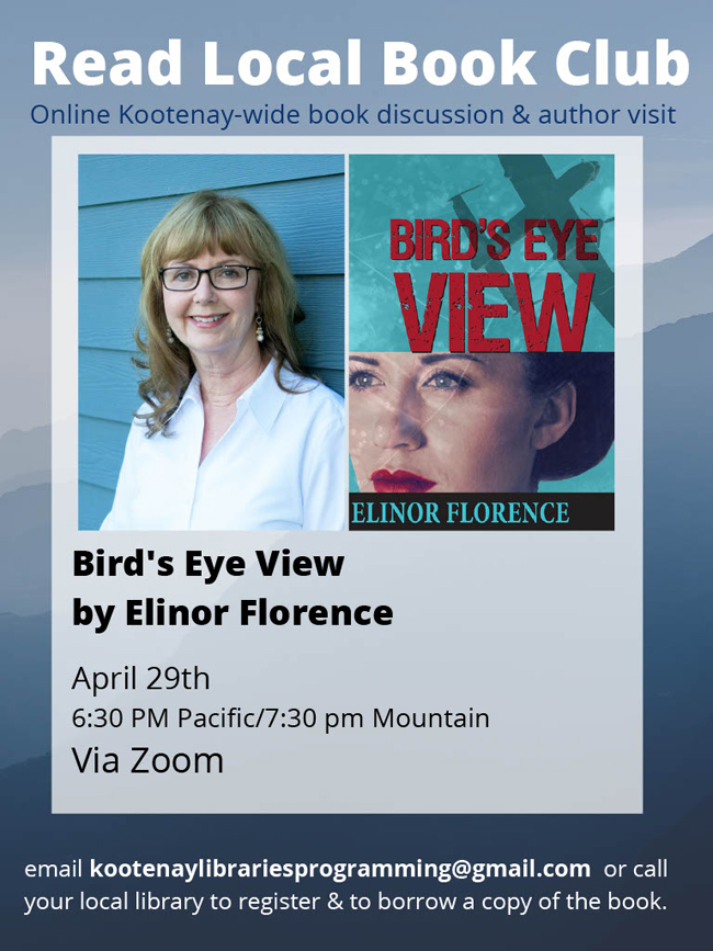 Promo for author Elinor Florence Zoom lecture