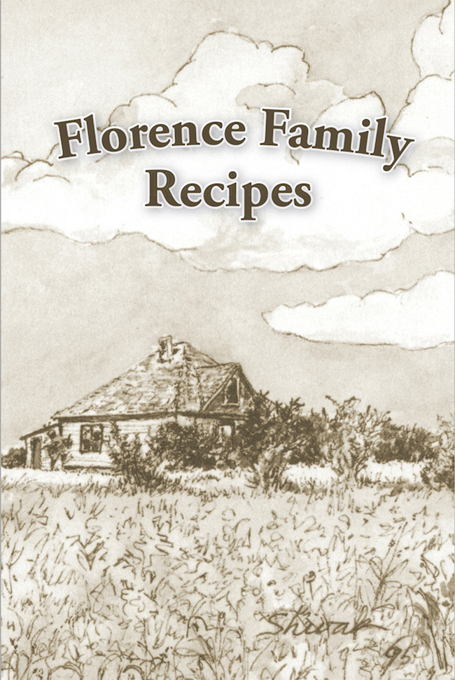 Florence Family Recipes Cookbook Cover with title