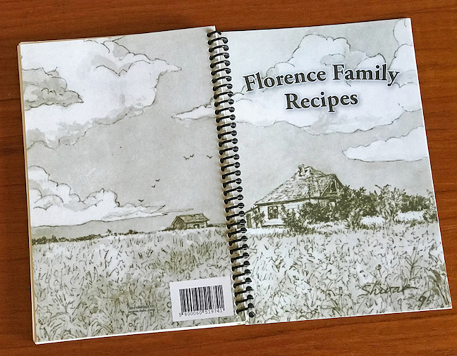 Florence Family Recipes, Cover of Cookbook