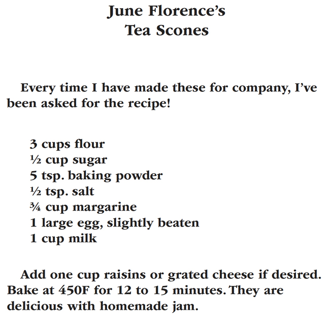Florence Family Recipes, Tea Scones