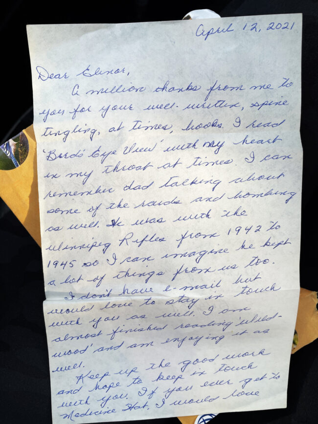 Handwritten letter to author Elinor Florence