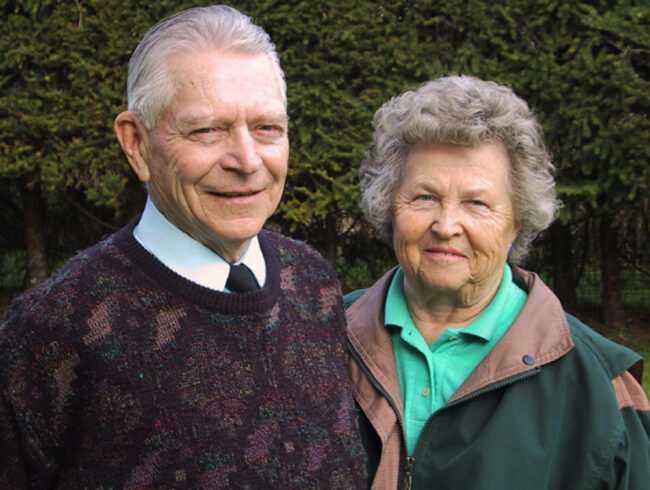 RCAF Spitfire Ace Stocky Edwards and his wife Toni Edwards
