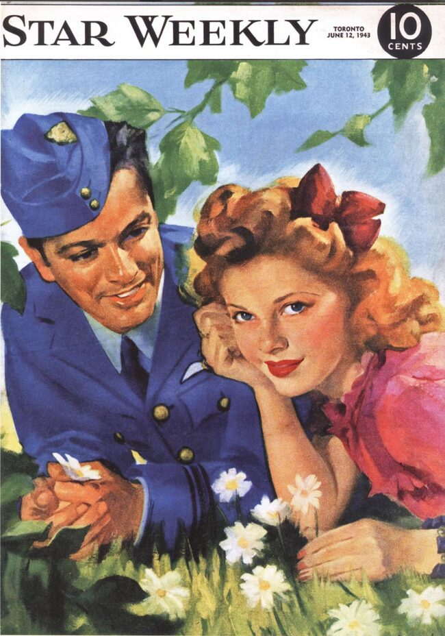 Star Weekly cover, He loves me, he loves me not, June 12, 1943