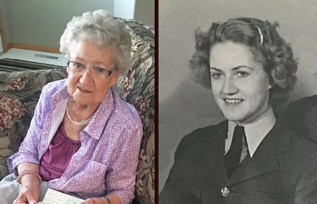 Yvonne Wildman, then and now