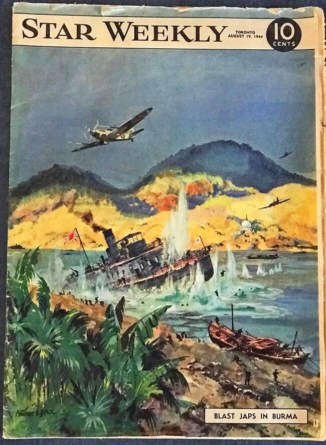 Star Weekly cover, Blast Japs in Burma, 1944