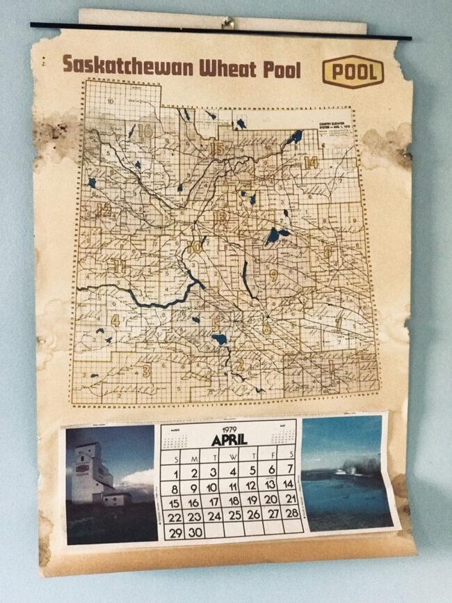 back to the farm, Wheat Pool calendar in Saskatchewan farmhouse