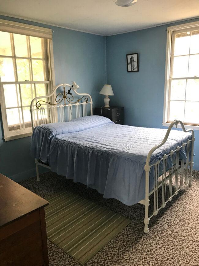 back to the farm, front bedroom in Saskatchewan farmhouse