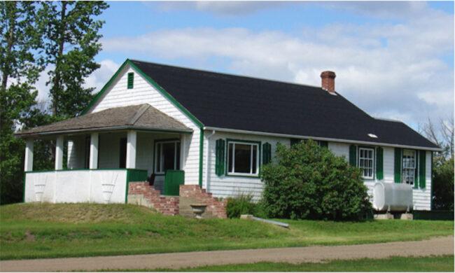 back to the farm, old Saskatchewan farmhouse