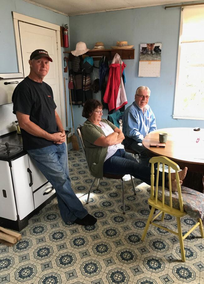 back to the farm, sunny kitchen in Saskatchewan farmhouse
